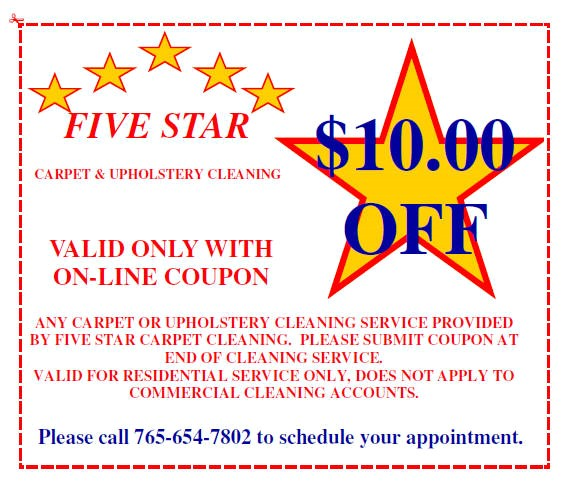 Five star cleaners coupons